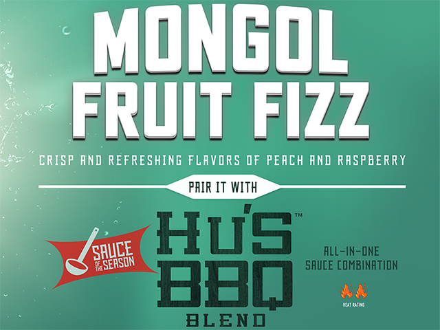 Sprite Mongol Fruit Fizz and Hu's BBQ Blend Image