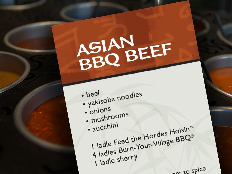 Recipe card graphic
